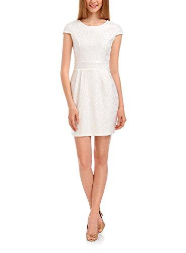 oodji Ultra Mujer Vestido de Encaje Blanco (1200N)