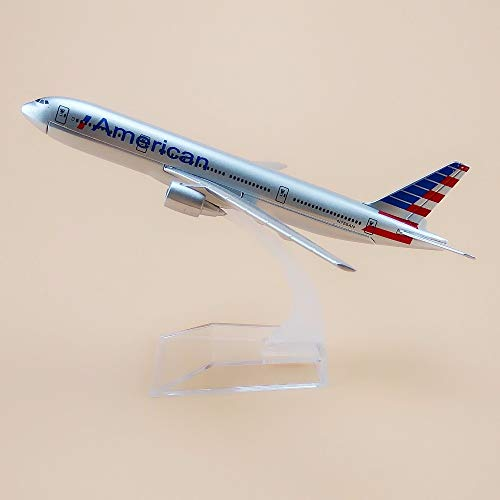 ir American B777 AA Airlines Airplane Model American Boeing 777 Plane Model Diecast Aircraft Kids Gifts 16cm ()