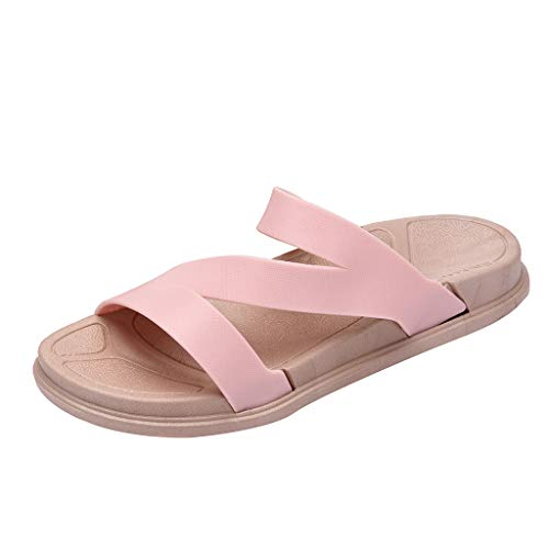 Espadrille Sandals for Women - ✔ Hypothesis_X ☎ Casual Slingback Flat Shoes Flat Flip Flops Casual Shoes Slippers Pink