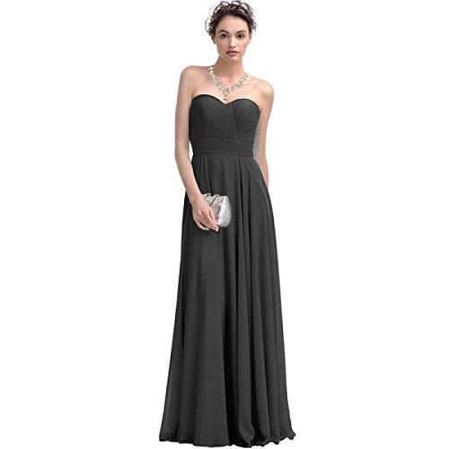 Larga Sección De La Sra MeiZiWang De Vestidos De Fiesta De La Boda Grey
