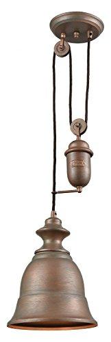 (Farmhouse 1 Light Pulldown Pendant in Tarnished Brass)