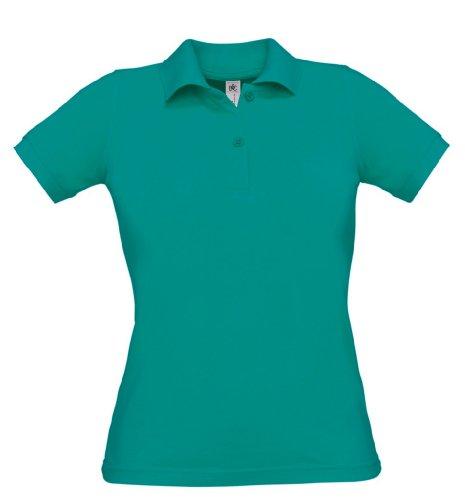 Safran Ladies Polo, Farbe:Real Turquoise;Größe:XL