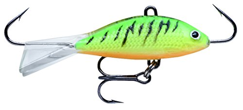 Shad Jigging Rapala Rap - Rapala Jigging Shad Rap 05 Fishing lure, 2-Inch, Glow Fire Tiger