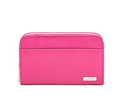 Myabetic Banting Diabetes Supply Case for Glucose Monitoring System,  Insulin Pens, Insulin Vials, Test Strips, etc (Pink)
