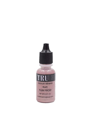 Tru Airbrush Makeup Water and Mineral Blush Plum Frost 0.5oz
