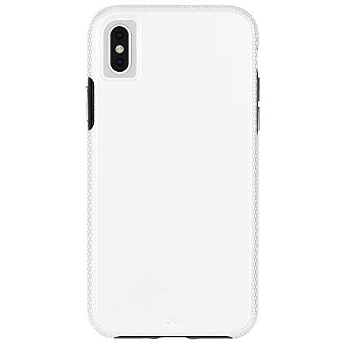 Solid Case White - Case-Mate - iPhone XS Max Case - TOUGH GRIP - iPhone 6.5 - White/Black
