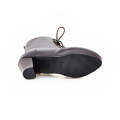 LFNLYX Mujer-Tacón Robusto-Plataforma / Botas a la Moda-Botas-Oficina y Trabajo / Casual / Fiesta y Noche-Semicuero-Negro / Marrón Brown