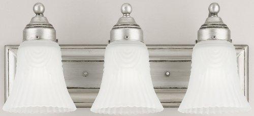 Westinghouse 6649500 3 Light Bathroom Bar Light Triple Incandescent Light Fixture