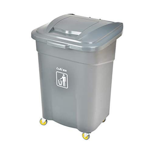 Outdoor trash can CSQ, 60L High Capacity Plastic Trash Can Covered...