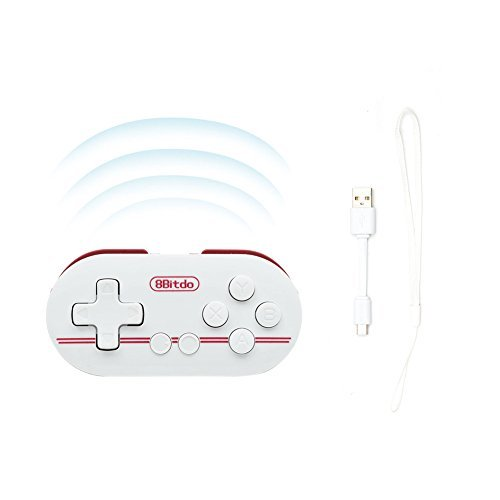 Zero Wireless Bluetooth Smallest Controller of World for Mac OSX Android Windows Pc (Red color) by 8bitdo (Image #1)