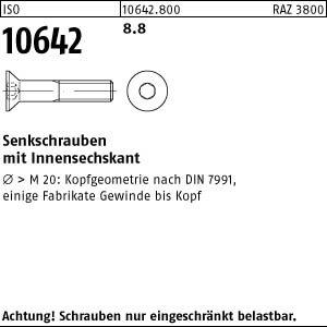 100 Inbus Senkkopfschrauben ISO 10642 8.8 schwarz M5x30