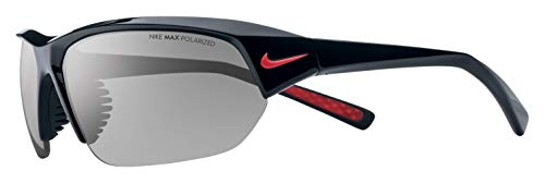 Nike Eyewear Unisex-Adult Skylon Ace P EV0527-006 Rectangular Sunglasses, Shiny Black/Matte Black, 69 ()