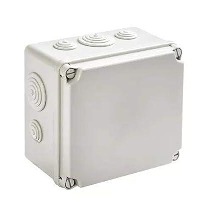 IDE EV111 IP65 Caja Estanca de Derivación con Tapa Opaca y Conos, Gris, 108mm x 108mm x 64mm: Amazon.es: Industria, empresas y ciencia