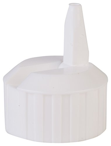Consolidated Plastics 41244 White Flip Top Dispensing Cap, 28 mm, 28-400 Finish, 12 Piece - White Dispensing
