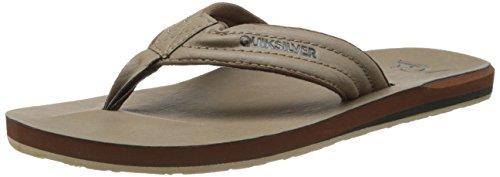 Quiksilver Men's Carver Nubuck 3 Point Sandal, Tan/Solid, 9 M (Nubuck Mens Sandals)