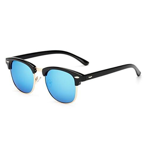 3d9a21bd82 Hellomiko Gafas de sol polarizadas marco clásico medio Vintage gafas  antideslumbrante conducción, gafas de viaje