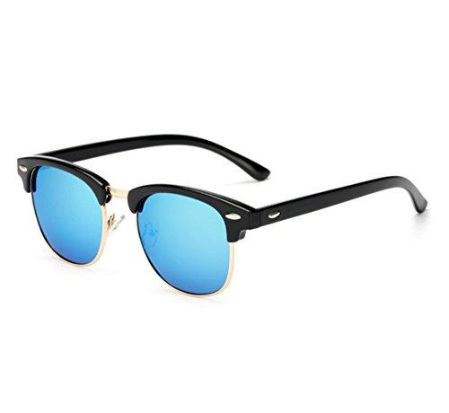 classique classique anti Bleu lunettes demi Hellomiko vue par voyage Noir éblouissante conduite conduit polarisée la demi trame de TTPw0