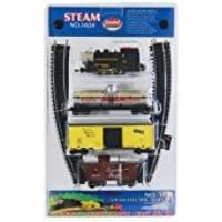 Model Power 0-4-0 Starter Set Pennsylvania HO scale Train Set with Piko Nickel Silver Track & Controller