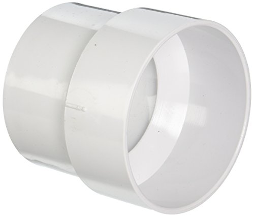 Genova 71543 SCH 40 PVC-DWV Sewer Pipe Adapter Couplings, Size: 4