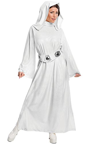 [Women's Star Wars Classic Deluxe Princess Leia Costume, White, Medium] (Adult Halloween Costumes Women)