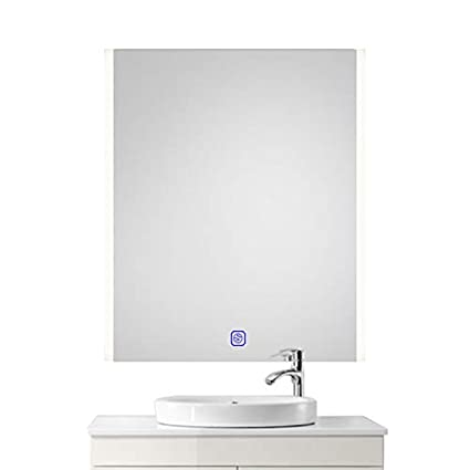 Amazon 24 x 32 led bluetooth bathroom mirror wall mounted 24quot x 32quot led bluetooth bathroom mirror wall mounted light bathroom antifogging slivered mirror aloadofball
