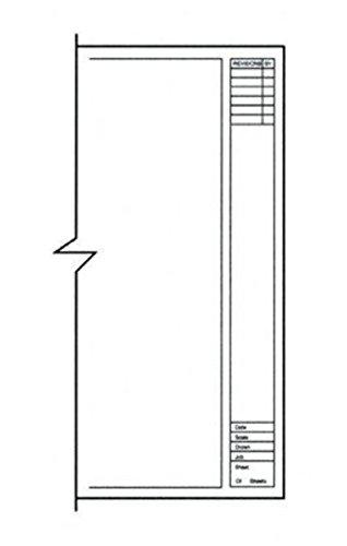 Clearprint 1000HTS-A Series 24 x 36 Inches Unprinted Vellum Title Block/Border, 10-Sheet Pack (CP10211228)