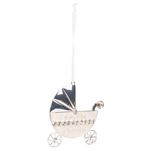 Silver Carriage Baby's First 3 Inch Zinc Alloy Holiday Keepsake Ornament