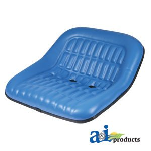 """A & I Products Seat, 19"""" Pan, Steel, 7"""" x 2"""" Backs, BLU VINYL Replacement for Ford - New Holland Part Number CS668-8V"""