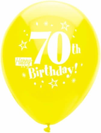 Image Unavailable Not Available For Color Happy 70th Birthday Party Balloons