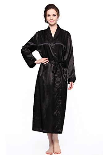 Sunrise Women's Long Classic Satin Kimono Lounge