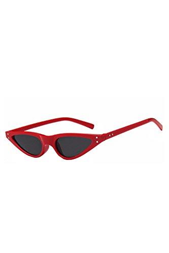 De No Marco Gafas Las Vintage Rojo Sol Gafas Sol De Polarizadas Pequeño Cateye 0z6qw16