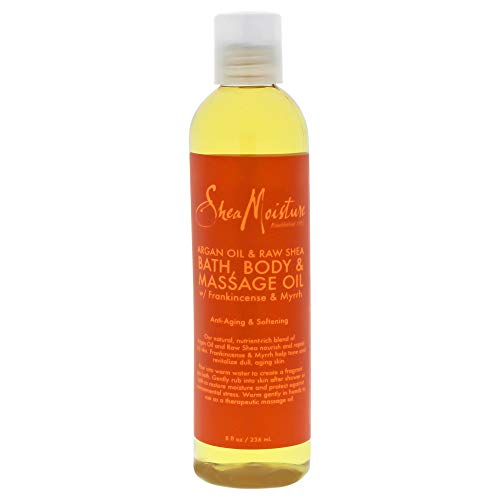 Oz Body 8 Oil (SheaMoisture Argan Oil & Raw Shea Butter Bath, Body & Massage Oil, 8 Ounce)