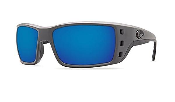 a49b0c97e4071 Amazon.com  Costa Permit Sunglasses Matte Gray Blue Mirror 580G   Cleaning  Kit Bundle  Clothing