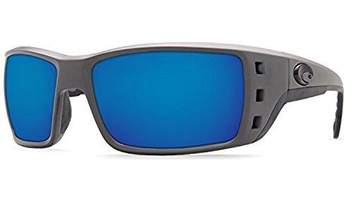Matte Costa Kit 580p Bundle Sunglasses amp; Cleaning Gray Mirror Permit Blue 4qrYZ4