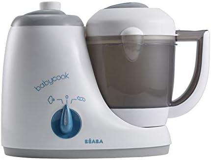 BÉABA - Babycook Original - Robot de Cocina para Bebé 4 en 1 : Mezcla, Calienta, Cocina al Vapor, Descongela - Comida Casera Rápida : 15 min - Accesorios incluidos