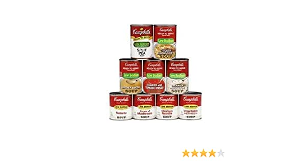 Amazon.com : Campbells Ready To Serve Low Sodium Vegetable Soup - 7.25 oz. can, 24 per case : Packaged Vegetable Soups : Grocery & Gourmet Food