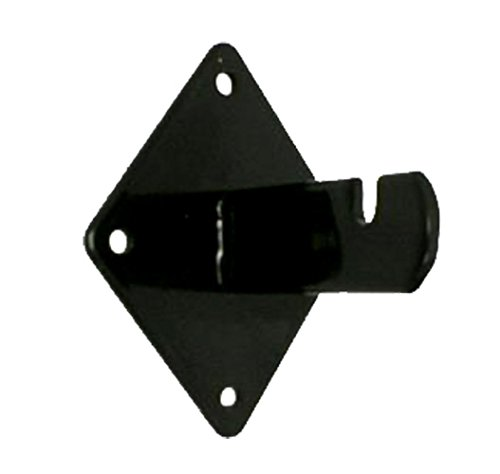 Gridwall Bracket (Wall Brackets for Gridwall or Grid Panels - Black color - Set of 8 Pieces)