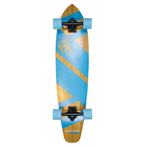 "The Super Cruiser 36"" Remix Aqua Blue Bamboo and Maple Deck Longboard Skaeboard"
