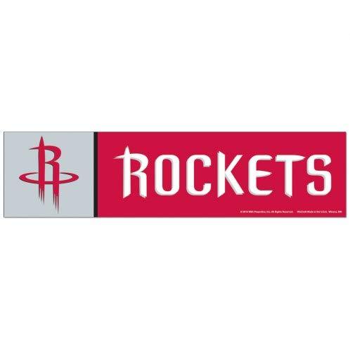 3 x 12 Wincraft NBA Houston Rockets WCR13312413 Bumper Strip