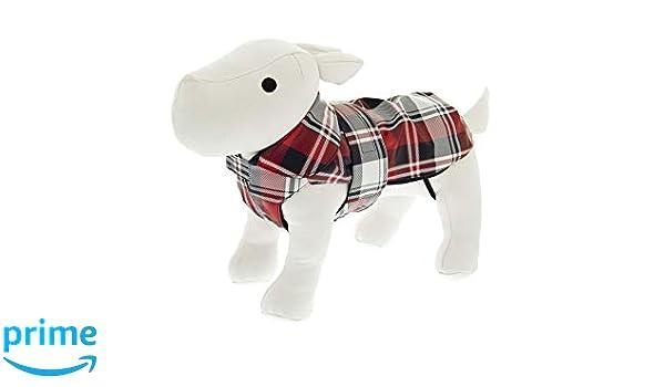 Ferribiella Impermeable Doble tartán, Abrigo para Perro, Vestido ...