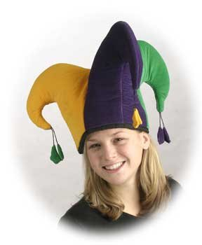BZANY® Plush Mardi Gras Jumbo Jester Hat