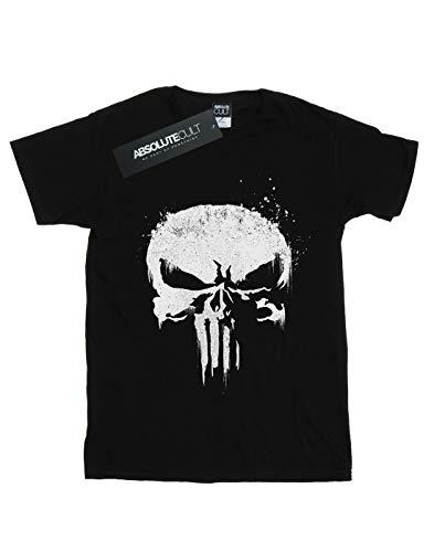 Skull Tv Man Negro Punisher The Marvel camiseta Logo wqvpBqf