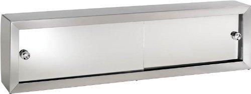 Jensen V24 Cosmetic Box with Mirror Doors, 24-1/4-Inch by 8-3/4-Inch by 4-1/4-Inch by Jensen by Jensen