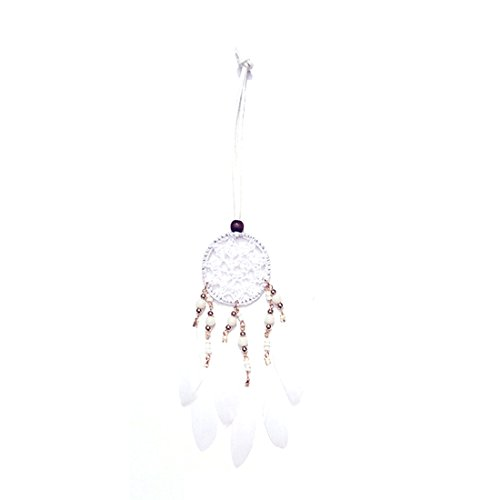 RagBear Dream Catcher Keychain Bulk Diy Favors For Bag Men Women Kit Kits Set White