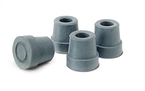 Rubber Anti Slip Tip - Pivit Quad Cane Replacement Tips | Small Base, Gray | Pack of 4 | Fits Any 1/2