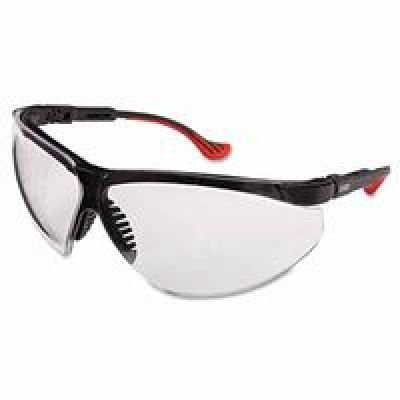 Safety Frame Xc Uvex Glasses - Uvex S3300-ADV Genesis XC Safety Eyewear, Black Adv TPE Frame, Clear Ultra-Dura Hardcoat Lens