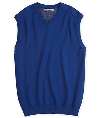 Cutter & Buck Big and Tall Men's Broadview V-Neck Sweater Vest | Tour Blue 2XLT by Cutter & Buck
