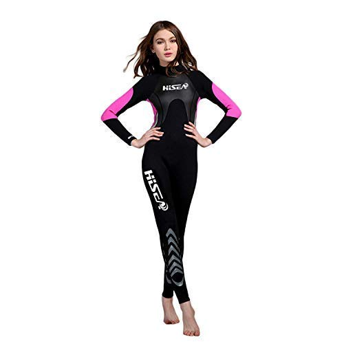 3 Mm Womens Wetsuit - 3 mm Wetsuit for Women Neoprene | for Scuba Diving Surfing Kayaking Swimming (M)