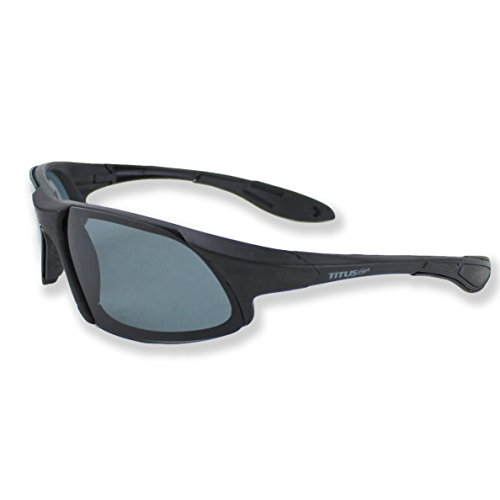 Titus G19 Polarized MotoSport Dark Smoke Sunglasses - Sports Riders Safety Glasses (Standard, - Rage Sunglass Coupon