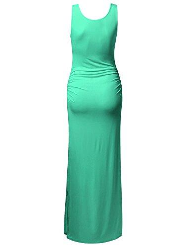 Size Sleeveless Shirring Waist TWINTH Dress Dress Dress Maxi Midi Plus Mint Maxi Side zS1w65